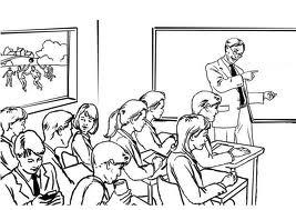 Dia do Professor para Colorir - Sala de Aula2