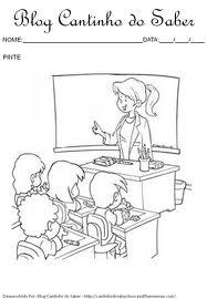 Dia do Professor para colorir - Sala de Aula