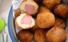 Receita de Rolinho de Salsicha Frita