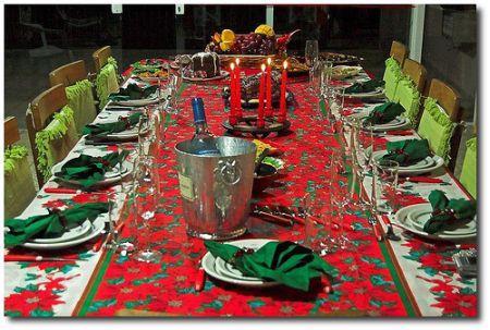 Ceia De Natal – Decoração Da Mesa