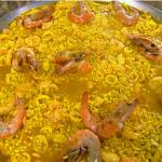 Receita da Paella já Cozida na paellera, preparada por Parreira
