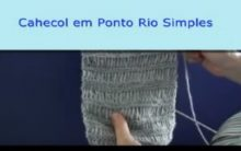 Cachecol Simples de Tricô – Receita e Vídeo.