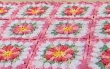 Tapete Em Flores de Crochê – Receita e Vídeo