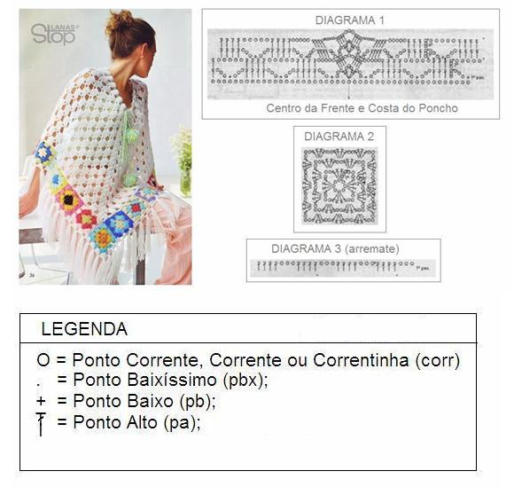 Poncho em Crochê Simples – Tendência Dicas e Receita
