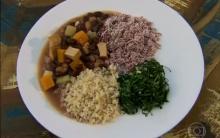 Receita De Feijoada Vegetariana Com Farofa de Beterraba, Preparada Por Dani Moreno – Programa Estrelas, Apresentado Por Angélica – Tv Globo Em 18/05/2013.