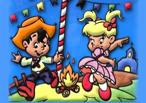 Desenhos Festa Junina, Caipira Divirtam-se Colorindo – Imagens para Imprimir.