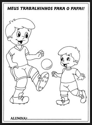 Desenhos para Colorir e Pintar Dias dos Pais. Bate Bola