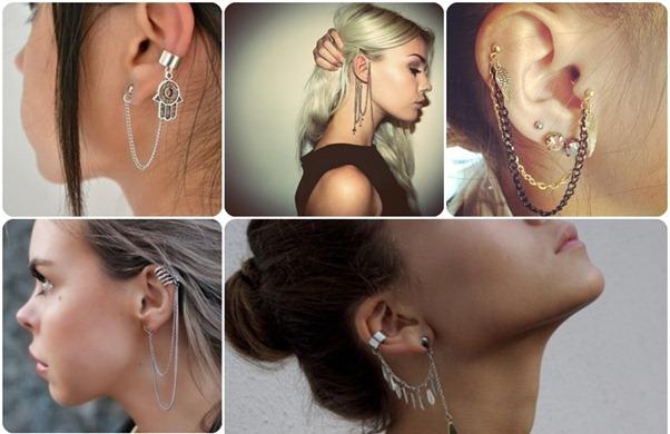 Brincos Ear Cuff – Acessórios da Moda – Dicas e Fotos.