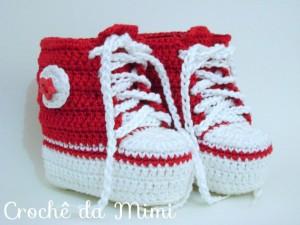 idéias de botinhas de crochê