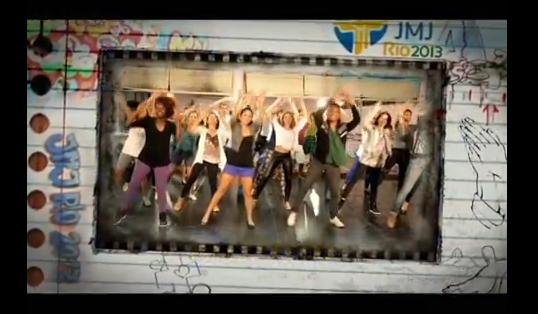 Como aprender os passos3, dançando o flash mob para vinda do papa francisco ao brasil. Fantástico 15 de julho de 2013.