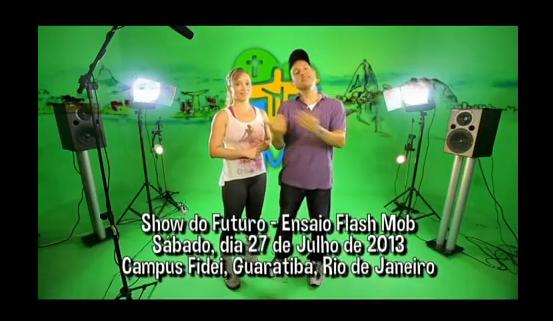 Como aprender os passos4, dançando o flash mob para vinda do papa francisco ao brasil. Fantástico 15 de julho de 2013.