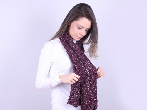 cachecol de trico ponto mexirica