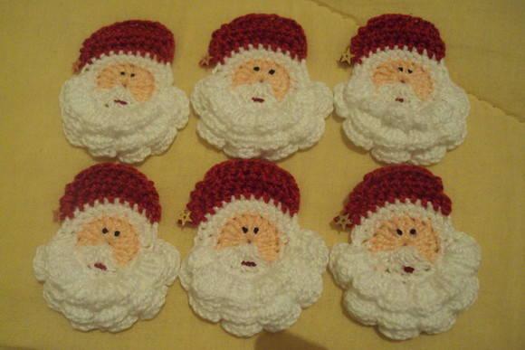 Idéias de Bicos e Barrados de Crochê de Papai Noel – Fotos e Vídeo de Como Fazer