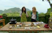 Receita De Risoto de Cogumelos E Torta de Maçã – Programa Estrelas, Apresentado Por Angélica – TV Globo Em 24/08/2013.