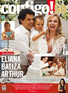 Eliana do SBT é Capa da Contigo: Aniversário e Batizado do Filho Arthur – Matéria Especial