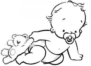 desenhos para colorir de bebê