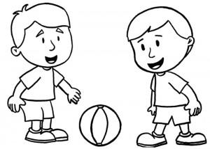 desenhos para colorir de dois amigos