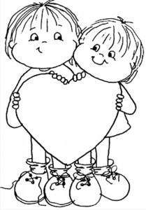 desenhos para colorir de dois irmãos