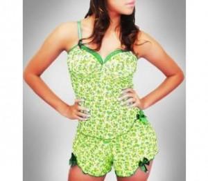 pijama-curto-verde