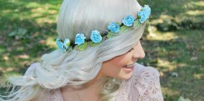 Aprenda a Fazer Tiara de Flores - Fotos, Passo a Passo e Vídeo