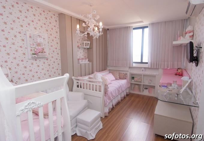 decoraçao-rosa-quarto-bebe