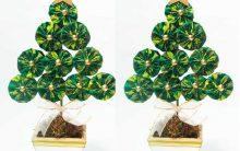 Árvores de Natal de Fuxico – Dicas e Como Fazer