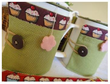 Kit chá de artesanato, feito com os tecidos da círculo3 - confira o passo a passo