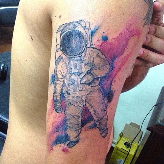 astronauta-aquarela