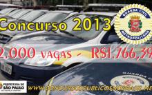 Abre Vagas Para Concurso Guarda Civil 2013 – São Paulo – Edital e Inscrições