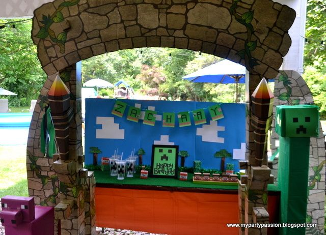 mesa-decoracao-festa-minecraft
