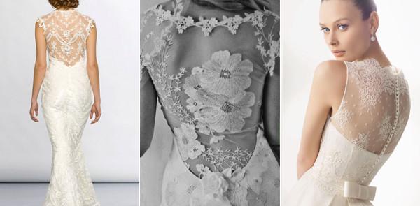 Tendência: Vestido de Noiva com Decote Rendado nas Costas – Fotos e Onde Comprar