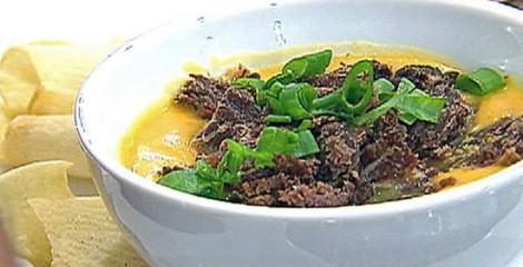 Sopa Fria de Abóbora com Carne Seca da Ana Maria Braga – Programa Mais Você em 26/11/2013 – Receita