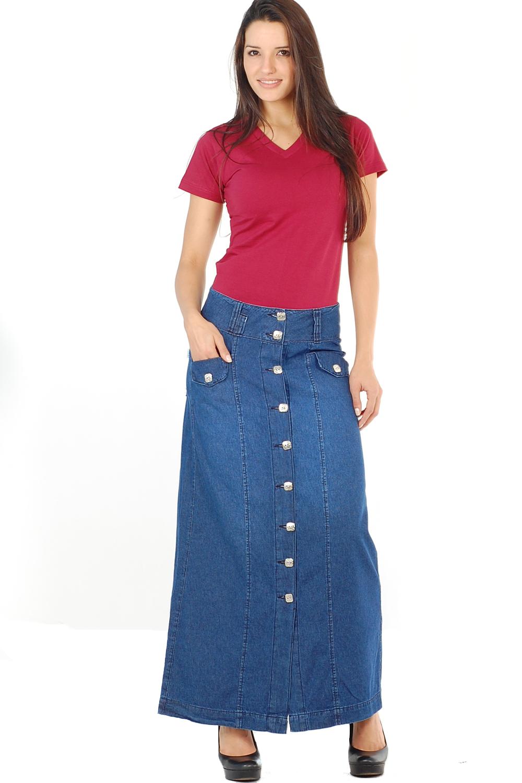 Modelos de Saias Jeans Longas – Dicas de Como Usar e Onde Comprar