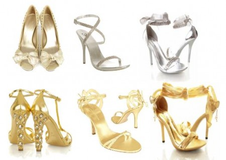 sandalias-douradas-prateadas
