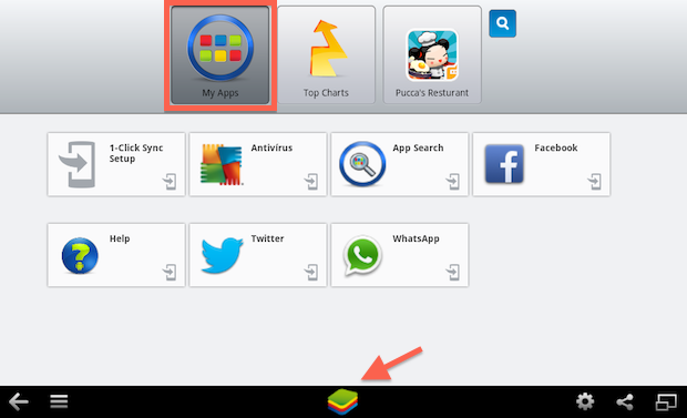 tela-bluestack-my-app