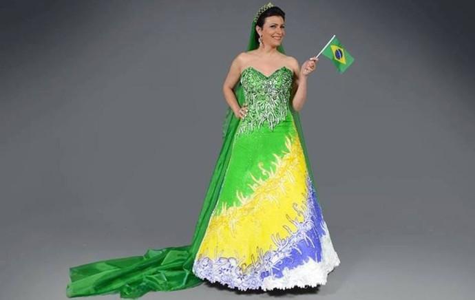 Modelos de Vestidos de Noivas Inspirados na Copa do Mundo no Brasil – Confeccionados por Estilista Edson Eddel