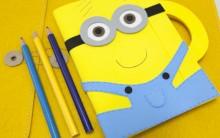 Como Fazer Capa de Caderno dos Minions – Passo a Passo