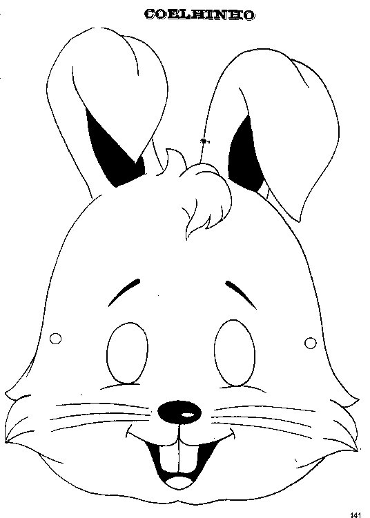 mascara-de-coelho-molde