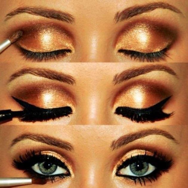 maquiagem-dourada-como-fazer