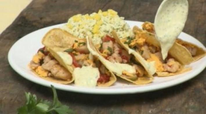 Como Fazer Tacos de Frango com Arroz de Manga – Prato Mexicano