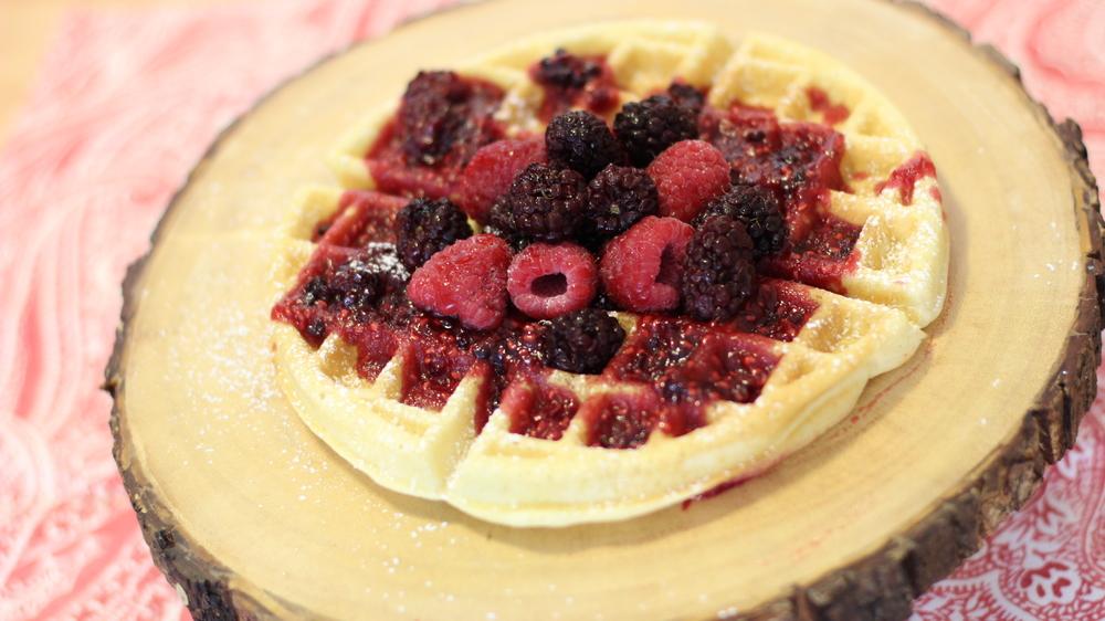 Waffles Frutas Vermelhas – Receita