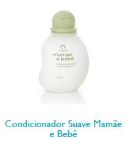 Linha natura cosméticos mamãe e bebe. Condicionador Suave