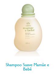 Linha natura cosméticos mamãe e bebe. Shampoo Suave