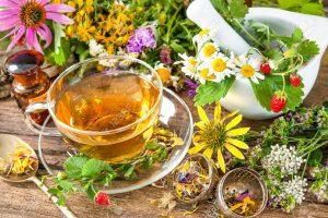chá com várias ervas