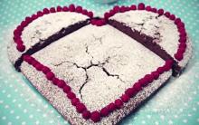 Bolo em Forma de Coração Com Gotas de Chocolate – Receita e Vídeo