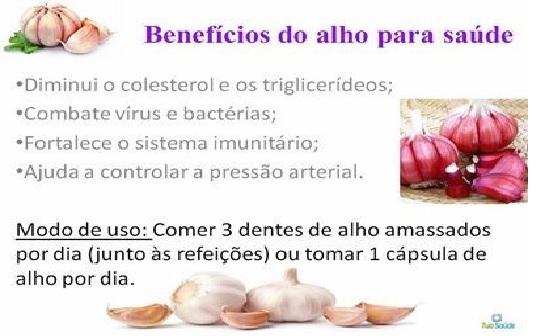 Alho –  Benefícios Para Saúde tri