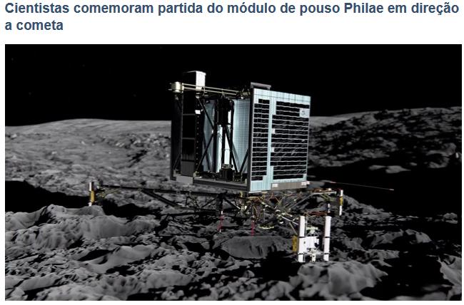 Robô Espacial Da Agência Européia. Robô no Cometa