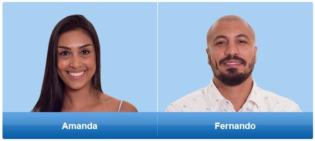 Enquête do paredão bbb 15. Fernando ou Amanda