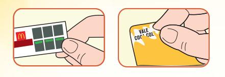 Promoção Milionário McDonald's Monopoly. Cartela Cupon