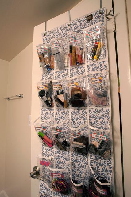 organizar-maquiagem-sapateira
